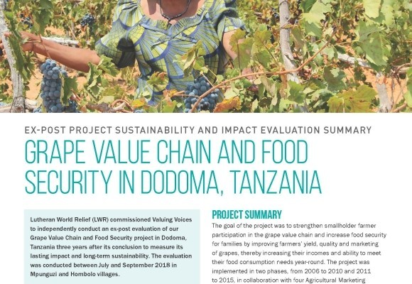 Grape Value Chain and Food Security in Dodoma, Tanzania
