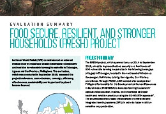 Food Secure, Resilient, and Stronger Households (FRESH) Project in the Philippines