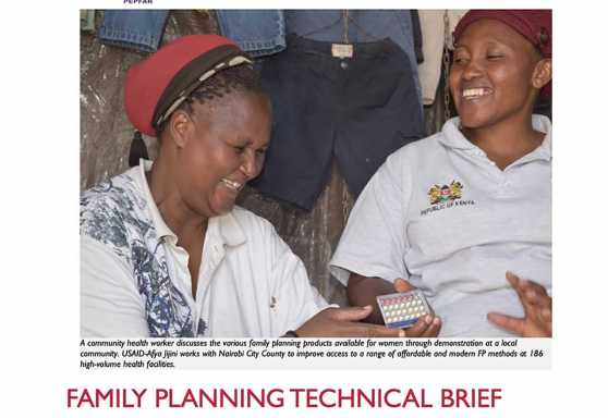 Afya Jijini Family Planning Technical Brief