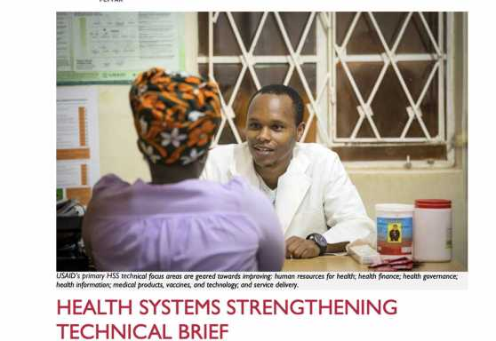 Afya Jijini Health Systems Strengthening Technical Brief